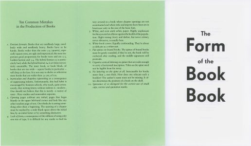 The Form of the Book Book, edited by Sara De Bondt and Fraser Muggeridge