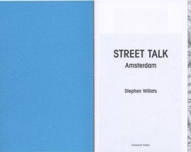 Street Talk: Amsterdam, by Stephen Willats