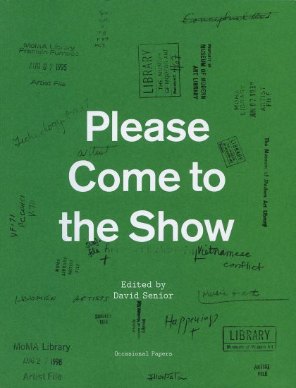 Please Come to the Show, edited by David Senior