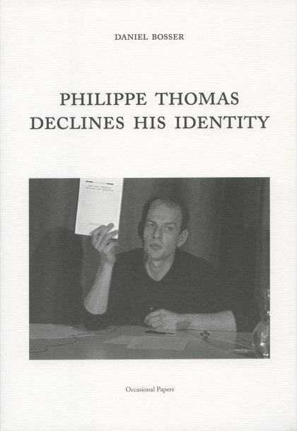 Philippe Thomas Declines His Identity