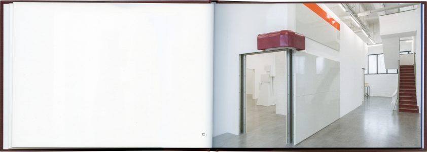 Spread from Explorer, a log book of Rita McBride's work published by Occasional Papers