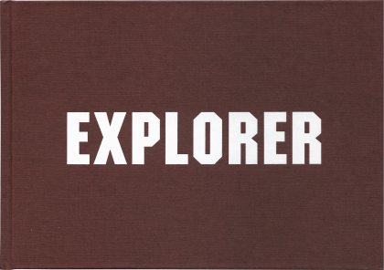 Cover of Explorer, a log book of Rita McBride's work published by Occasional Papers